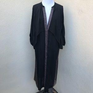 BCBGMaxAzria Lace Contrast Maxi Dress